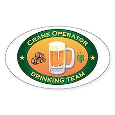 Crane Operator Team Oval Decal