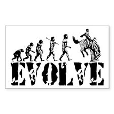 Cowboy Rodeo Evolution Rectangle Decal