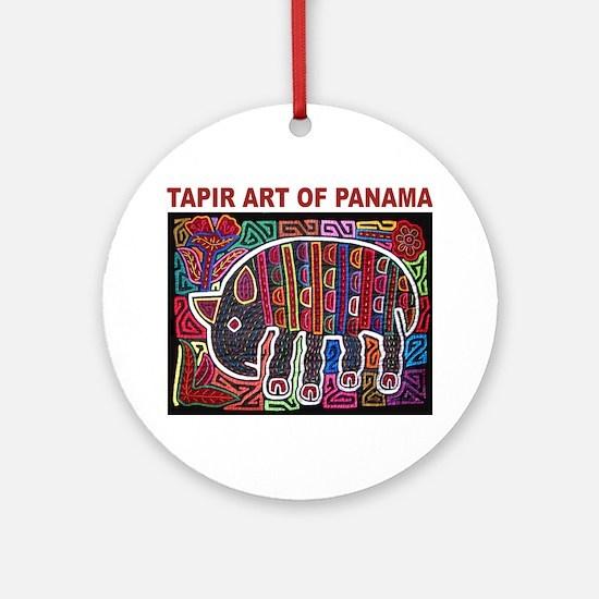 Tapir Mola Ornament (Round)