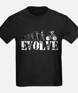 Bicycling Cyclists Evolution T