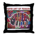 Tapir Mola Throw Pillow