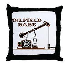 Oilfield Babe Throw Pillow