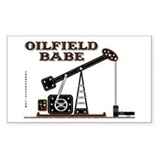 Oilfield Babe Rectangle Decal
