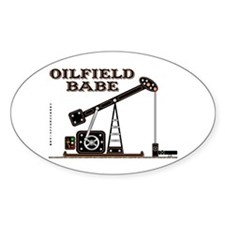 Oilfield Babe Oval Decal