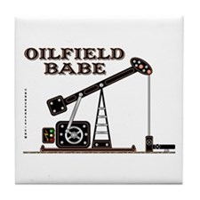 Oilfield Babe Tile Coaster