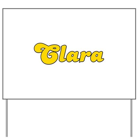 Retro Clara (Gold) Yard Sign
