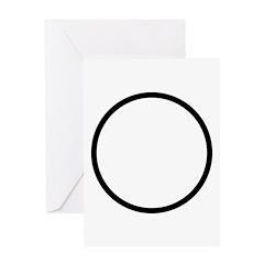 Circle Symbol Greeting Card