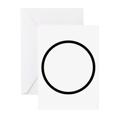 Circle Symbol Greeting Cards (Pk of 20)