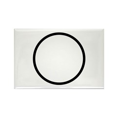 Circle Symbol Rectangle Magnet (100 pack)