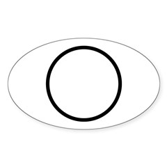 Circle Symbol Oval Sticker (50 pk)