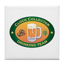 Clock Collector Team Tile Coaster