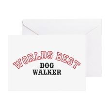 Worlds Best Dog Walker Greeting Card