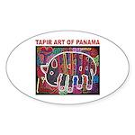 Tapir Mola Oval Sticker