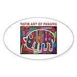 Tapir Mola Oval Sticker (10 pk)