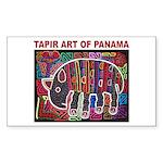 Tapir Mola Rectangle Sticker 10 pk)
