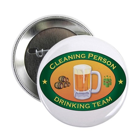 """Cleaning Person Team 2.25"""" Button (100 pack)"""