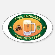 Civil Engineer Team Oval Decal