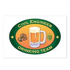 Civil Engineer Team Postcards (Package of 8)