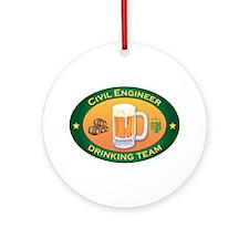 Civil Engineer Team Ornament (Round)