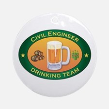Civil Engineer Team Ornament (Round)
