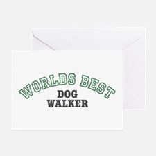 Worlds Best Dog Walker Greeting Card