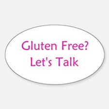 Gluten Free? Let's Talk Oval Decal