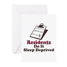 Funny Resident or Intern Greeting Cards (Pk of 10)