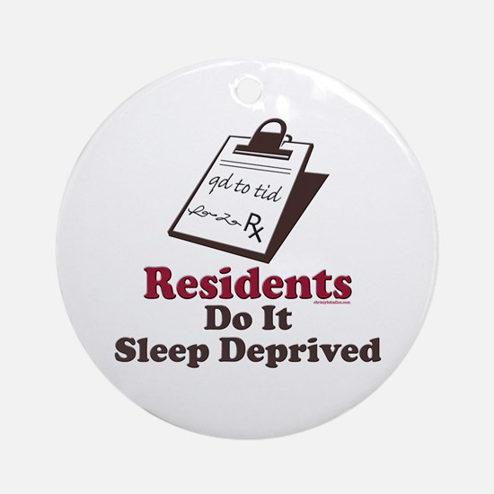 Funny Resident or Intern Ornament (Round)