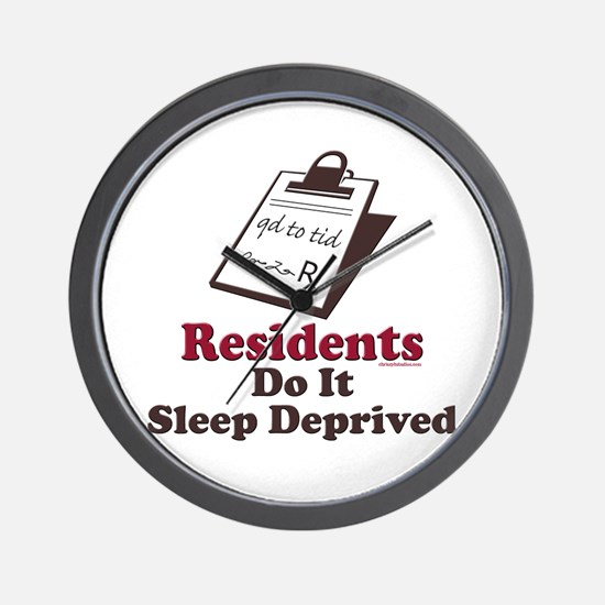 Funny Resident or Intern Wall Clock
