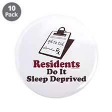 """Funny Resident or Intern 3.5"""" Button (10 pack)"""