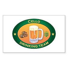 Cello Team Rectangle Decal