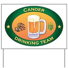 Canoer Team Yard Sign