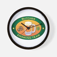 Butcher Team Wall Clock