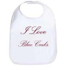 I Love Blue Crabs Bib