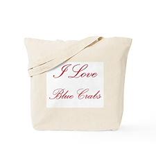 I Love Blue Crabs Tote Bag