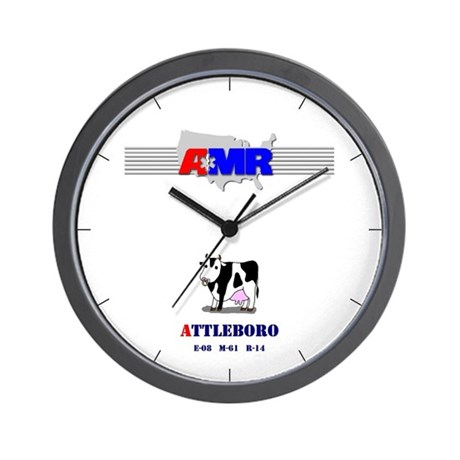 Attleboro AMR Wall Clock (old logo)