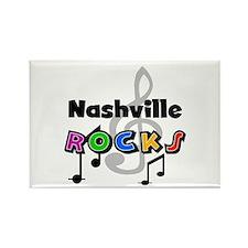 Nashville Rocks Rectangle Magnet
