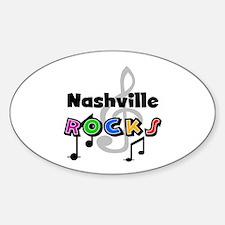 Nashville Rocks Oval Decal