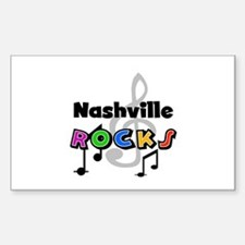 Nashville Rocks Rectangle Decal