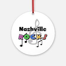 Nashville Rocks Ornament (Round)