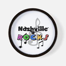 Nashville Rocks Wall Clock