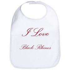 I Love Black Rhinos Bib
