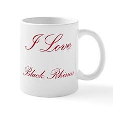I Love Black Rhinos Mug