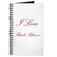 I Love Black Rhinos Journal