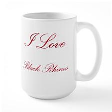 I Love Black Rhinos Large Mug