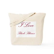 I Love Black Rhinos Tote Bag