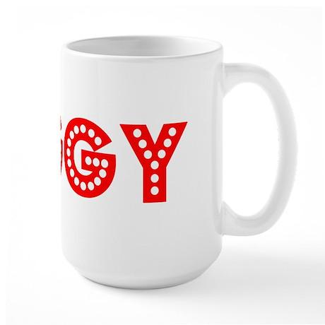 Retro Peggy (Red) Large Mug