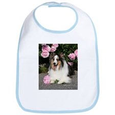 Happy Blue Merle Sheltie Bib