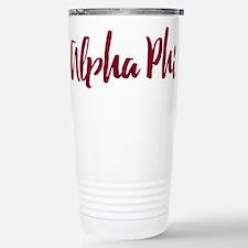 Alpha Phi Script Stainless Steel Travel Mug