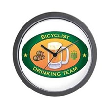 Bicyclist Team Wall Clock